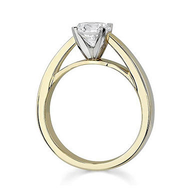 0.24 ct. Round Diamond Solitaire Ring in 14k Yellow Gold (I, SI1)
