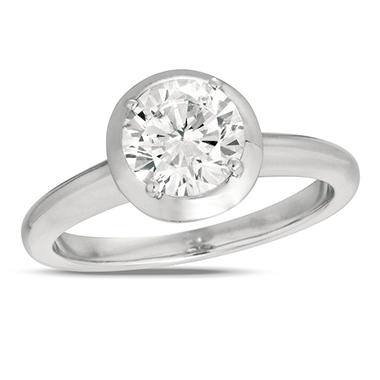 0.50 ct. Diamond Solitaire 18K White Gold Ring (I, SI2)