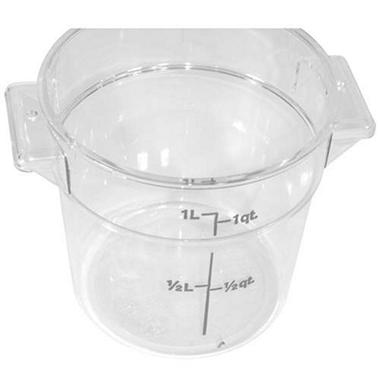 Container 1 Qt Round Clear - 12 Pack
