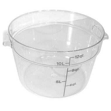 Container 12 Qt Round Clear - 6 Pk.