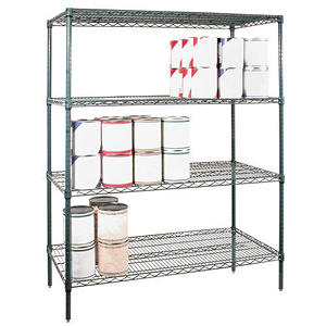 "Shelving Set Green Epoxy - 48"" X 24"" X 74"""