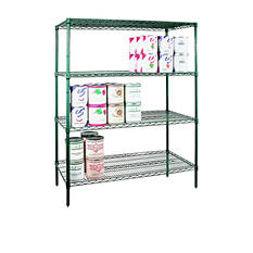 "Shelving Set Green Epoxy - 72"" X 24"" X 74"""