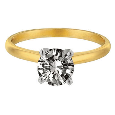 0.34 ct. Round-Cut Diamond Solitaire Ring in 14K Yellow Gold (I, SI2)