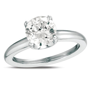 0.50 ct. Diamond Solitaire Platinum Ring (I, VS2)