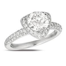 1.45 ct. Diamond Solitaire Triangular-Top 18K White Gold Ring (I, SI2)