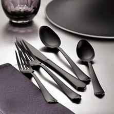 Tomodachi Palace 20-Piece Gunmetal Flatware Set