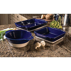 3-Piece Rustic Bakeware Set - Assorted Colors