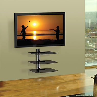 Flat Panel A/V Component 3-Shelf Wall Mount