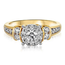 1.00 CT. T.W. Diamond Composite Engagement Ring in 14K Yellow Gold HI-I1