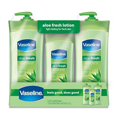 Vaseline Aloe Fresh Body Lotion (20.3 oz. - 2 ct., Bonus 10 oz.)