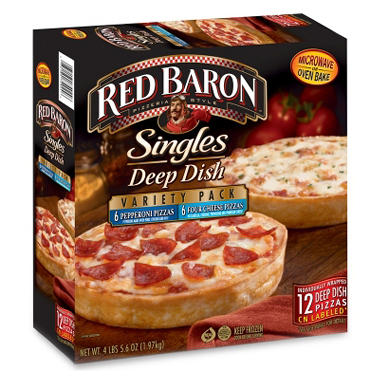 $2.00 off Red Baron® Singles Deep Dish Pizza Variety Pack