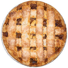"12"" Daily Chef Prebaked Apple Lattice Pie"