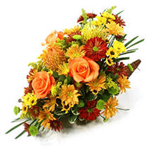 Fall Elegance Cornucopia Arrangement