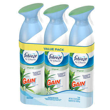 Febreze Air Effects - Original Gain Scent - 3 pk.