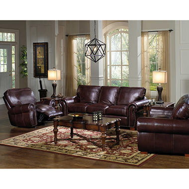 Kingston Leather Living Room Set - 3 pc.