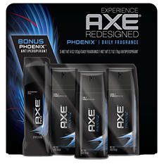AXE Daily Fragrance Bonus Pack, Phoenix (4 oz., 3 pk. and 2.7 oz. Deodorant)
