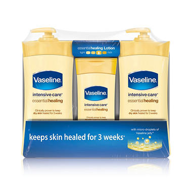 Vaseline Intensive Care Essential Healing (20.3 oz., 2 ct. + 10 oz., 1 ct.)