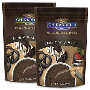 Ghiradelli Dark Chocolate Melting Wafers - 2 pk.