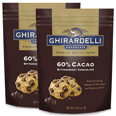 Ghirardelli 60 % Cacao Bittersweet Baking Chips - 36 oz. - 2 pk.
