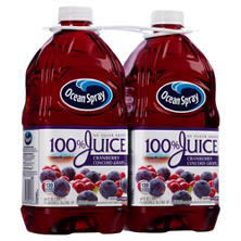 Ocean Spray 100% Juice, Cranberry Concord Grape (64 fl. oz. bottles, 2 ct.)