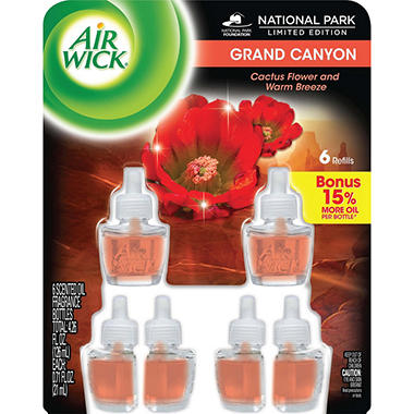 Air Wick Scented Oils - Grand Canyon Scent - 6 Refills