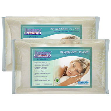 American Sleep Deluxe Down Pillows - King - 2 pk.