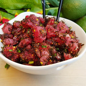 Hawaiian Select Limu Ahi Tuna Poke (5 lb. ready-to-mix kit)