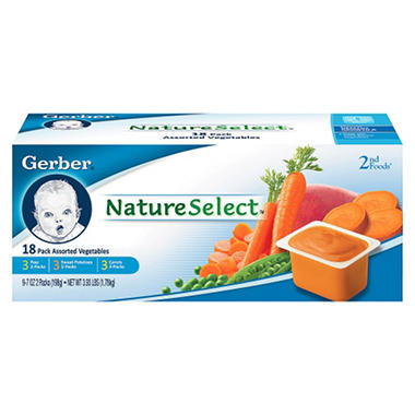 Gerber 2nd Foods Vegetable - 18 pk. - 3.5 oz.