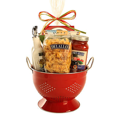 Italian Feast Gift Set with Colander - Red