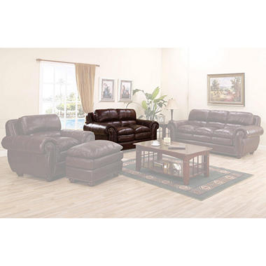 Carmella Leather Loveseat