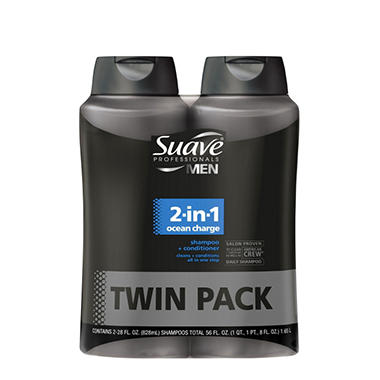 Suave Men New 2-in-1 - 28 fl. oz. - 2 pk.