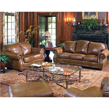 Hathaway Leather Living Room Set - 4 pc. - by Quest