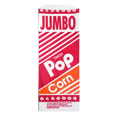 "Gold Medal Jumbo 12"" Popcorn Bag - 2 oz. - 2,000 ct."
