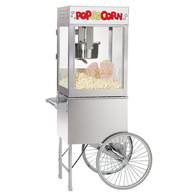 Gold Medal Pop Maxx on Stainless Cart