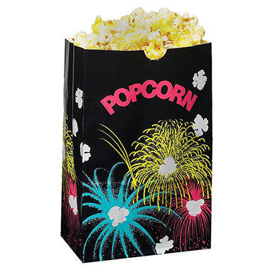 Funburst Design Popcorn Bags - Various Sizes