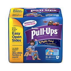 Huggies Night Time Pull-Ups Training Pants for Boys, Size 3T-4T (32-40 lbs.), 48 ct. (96), 2 boxes
