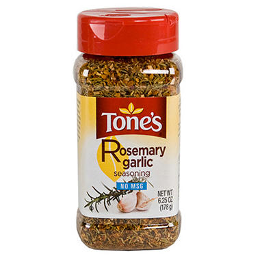 Tone's 6.25 oz. Rosemary Garlic Seasoning - 12 pk.
