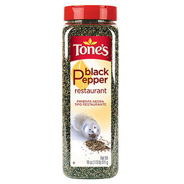 Tone's 18 oz. Restaurant Black Pepper - 12 pk.