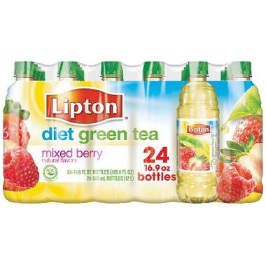 Lipton Diet Green Tea with Mixed Berry Flavor  24 / 16.9oz Bottles