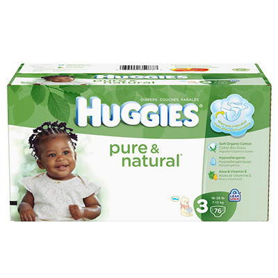 Huggies Pure & Natural Diapers Super Pack (Choose Your Size)