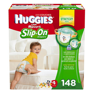 Huggies Little Movers Slip-On Diaper Pants Economy Pack (Choose Your Size)