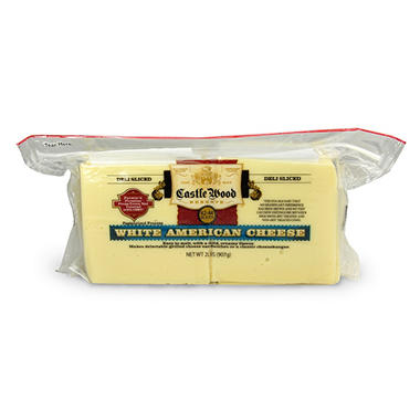 Castle Wood White American Cheese Slices - 2 lbs.