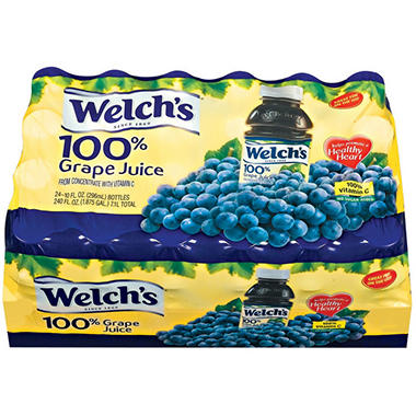 Welch's 100% Grape Juice - 24/10 oz. bottles