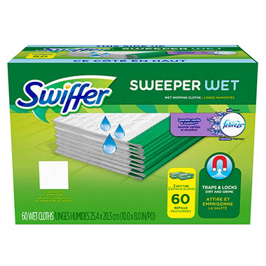 Swiffer Wet Refills, Lavender Vanilla (60ct.)