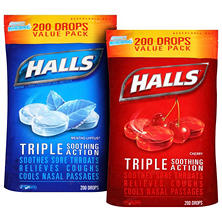 Halls Cough Suppressant/Oral Anesthetic Cough Drops - Choose a Flavor (200 ct.)