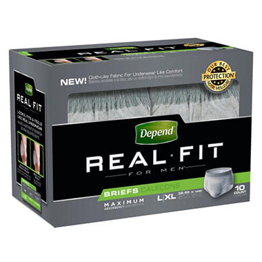 Depend Real Fit for Men Briefs - Maximum Absorbency - Large/Extra Large - 40 ct.