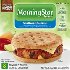 Morningstar Farms Southwest Sunrise Black Bean Sandwich (26.8 oz., 8 ct.)