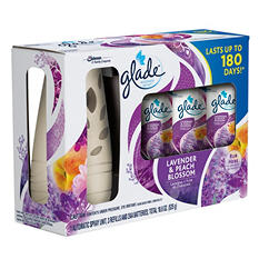 Glade Automatic Spray Starter plus 3 Refills (Choose Your Scent)