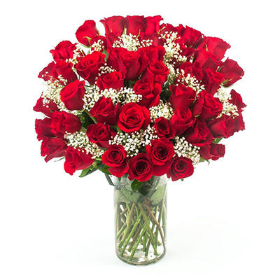 """Hopelessly in Love"" 50 Stem Red Roses (delivered Valentine's Day only)"