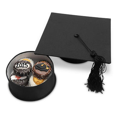 Lady Fortunes Graduation Cap of Oreo Cookies - Gift Box of 6